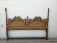 Antique Wood Headboard King Size Attractive Design How To ...