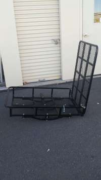 Snow blower rack for truck hitch with ramp. for sale in ...