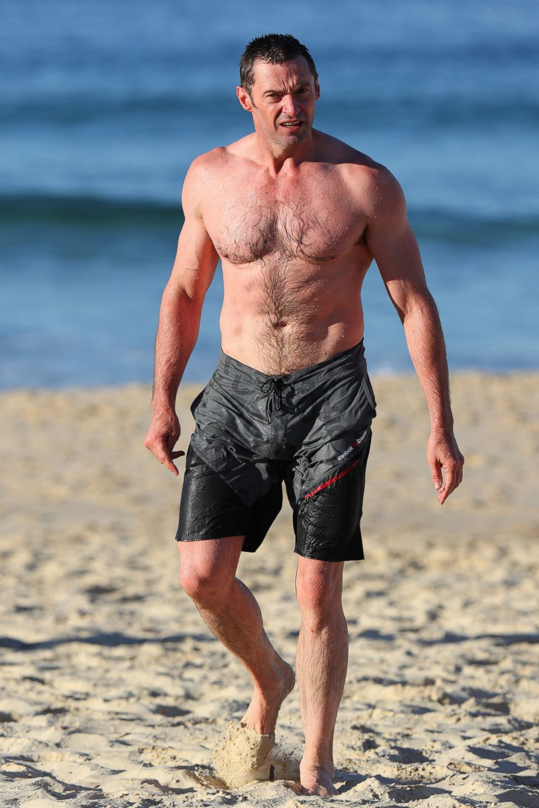 Very Cute Baby Twins Wallpaper Hugh Jackman Hits The Beach In Australia Picture