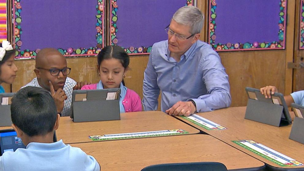 Exclusive Apple CEO Tim Cook Talks Classroom Tech Initiative Video - tim cook resume