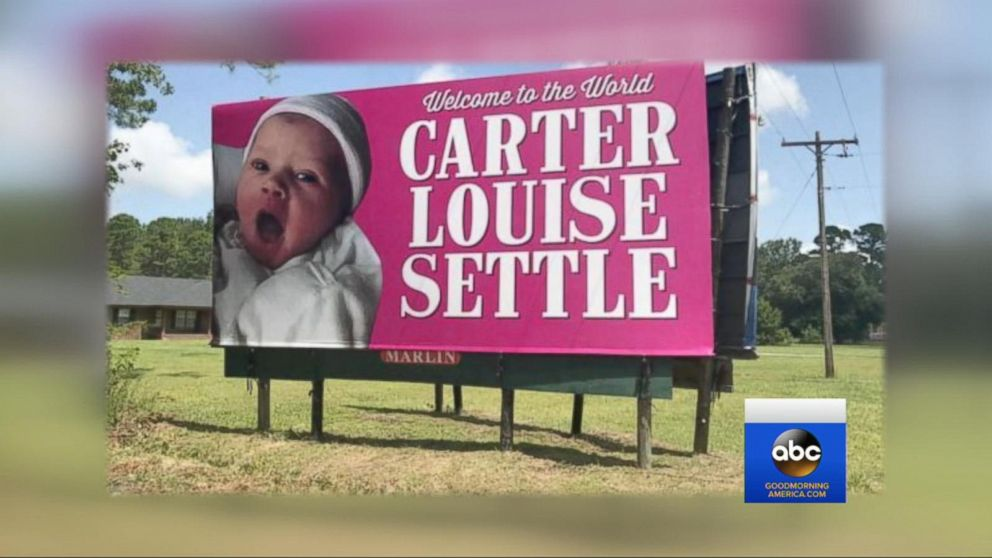 First baby girl born to family in 137 years gets billboard birth - Baby Girl Birth Announcements