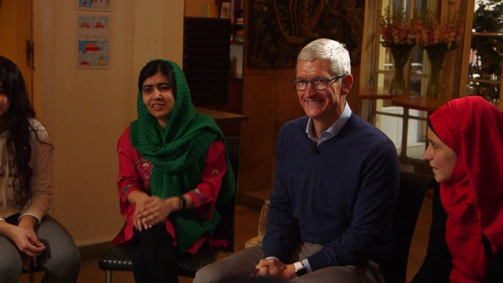 Apple\u0027s Tim Cook and Malala team up to fight for girls\u0027 education - tim cook resume