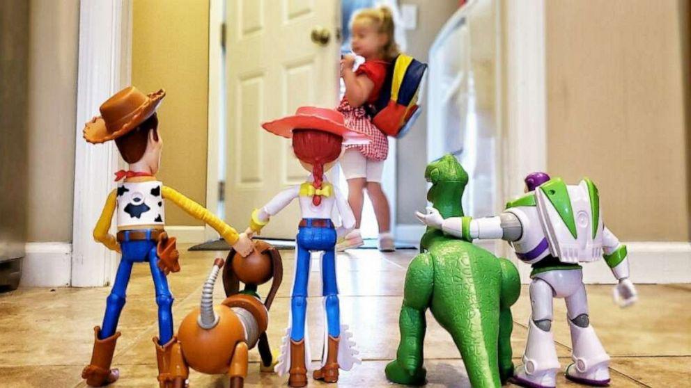 Toy Story Toys Everywhere 3 Year Old 39;s Adorable 39;toy Story 39; Back To School Photo Is
