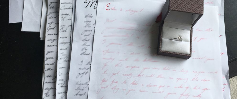 Marriage proposal hidden in letters over 3 years - ABC News