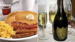 Smartly Champagne Abcnews New Extravagant Breakfast Comes New Extravagant Breakfast Comes Champagne Slam Breakfast Smoke Signals Slam Breakfast At Denny S