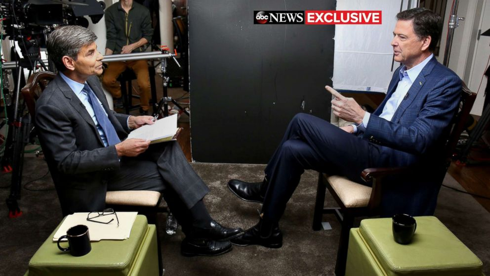 Exclusive James Comey to give first interview to ABC News\u0027 George