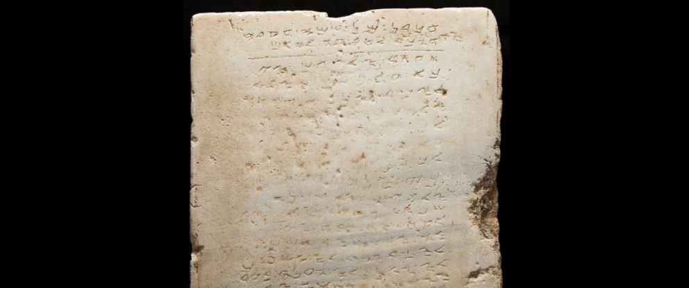 Oldest Stone Tablet of the Ten Commandments Up for Auction - ABC News
