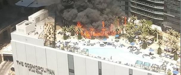 Pool Fire At Cosmopolitan Hotel Of Las Vegas Fueled By