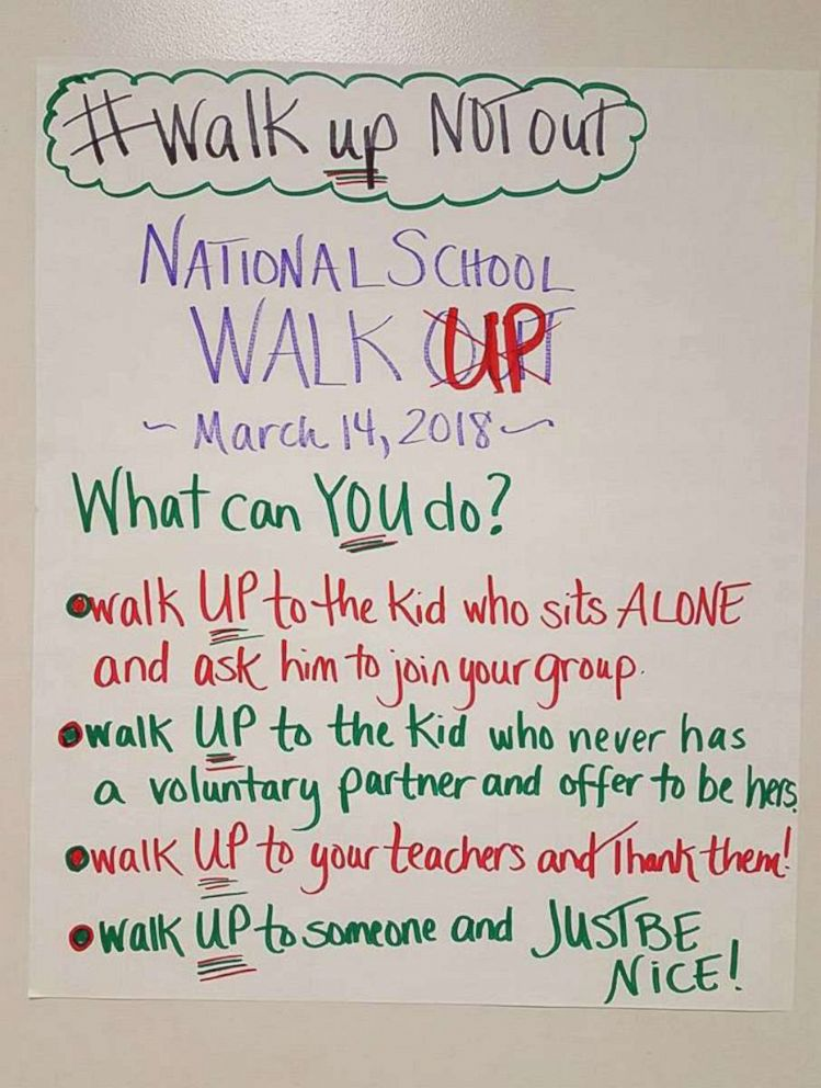 Middle school teacher encourages students to \u0027walk up\u0027 to others