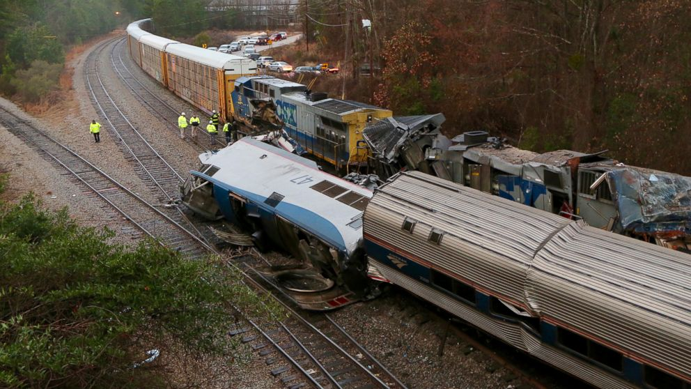 Amtrak train on wrong track in deadly crash; it says freight line