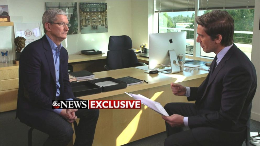 Apple CEO Tim Cook Addresses iPhone Security Debate Video - ABC News