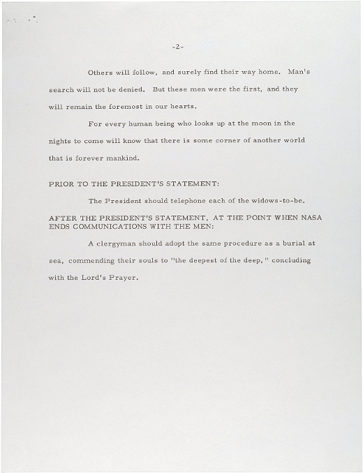 Here\u0027s the speech Nixon would\u0027ve said if the Apollo 11 moon landing