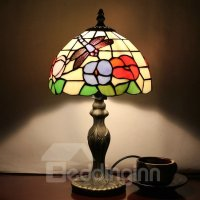 Tiffany Dragonfly Pattern Stained Glass Table Lamp ...