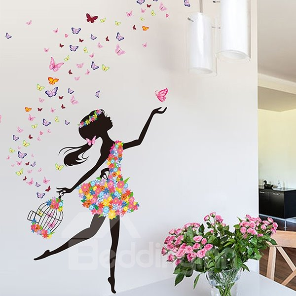 Stickers Papillon Chambre Fille Wonderful Flower Fairy And Butterfly Bedroom Nursery