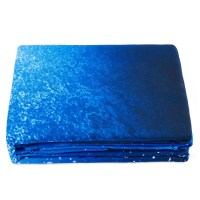 Blue Shining Stars and Galaxy Print 4-Piece Duvet Cover ...