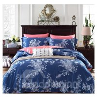 Elegance American Country Style Moundlily 4-Piece Print ...