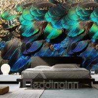 Vivid Modern Design Peacock Feather Pattern Waterproof 3D ...
