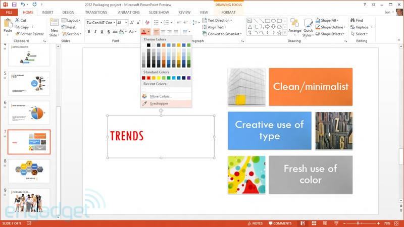Microsoft Office 2013 Preview (PowerPoint)