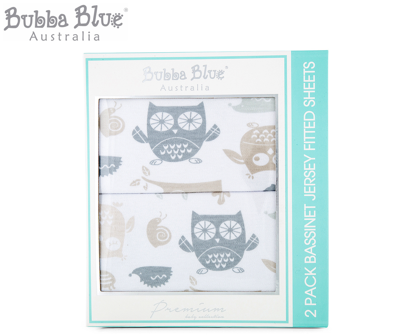 Jersey Sheets Australia Bubba Blue Mod The Owl Bassinet Jersey Fitted Sheets 2