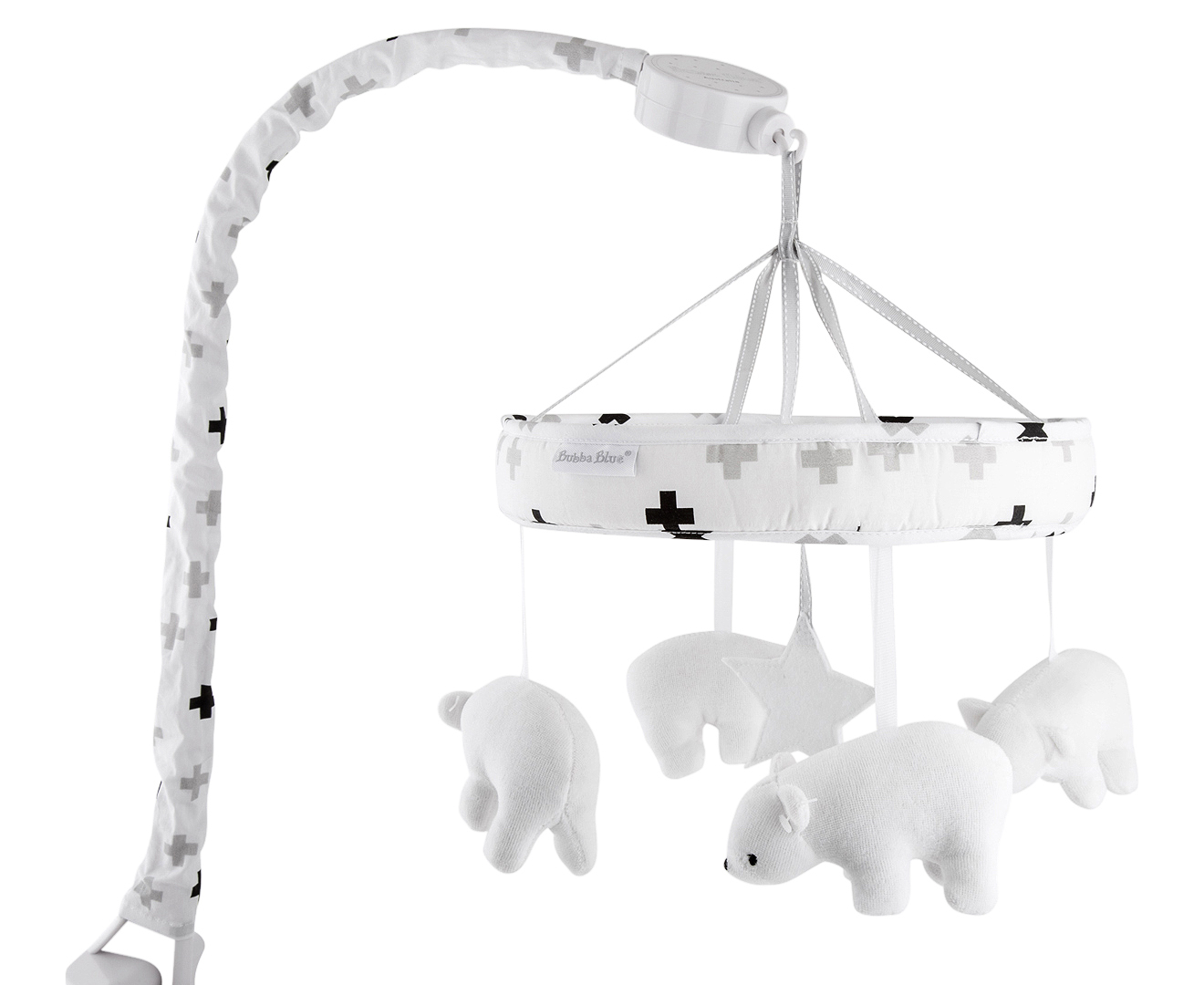 Baby Musical Mobile Australia Bubba Blue Polar Bear Musical Mobile Black White Catch