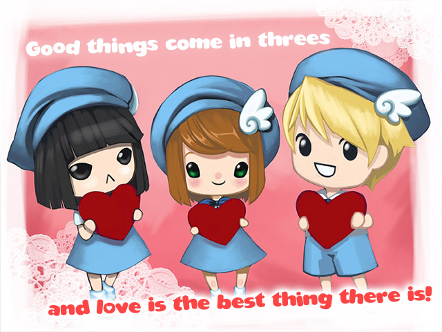 Polyamorous Valentines Day card on Gaia Online  polyamory