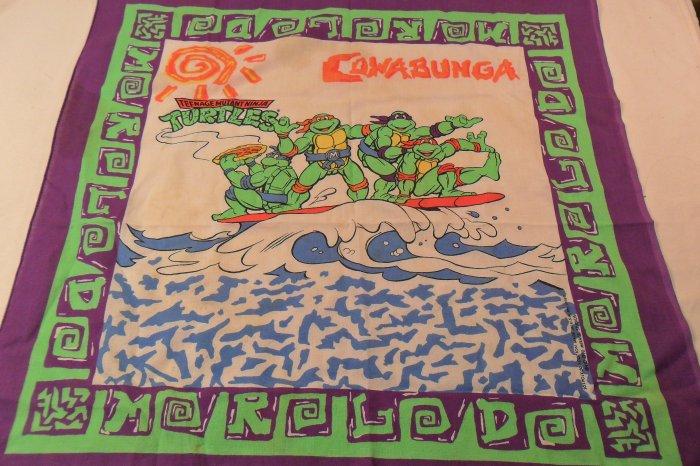 Vintage 1990 Teenage Mutant Ninja Turtles Bandana Scarf Sold