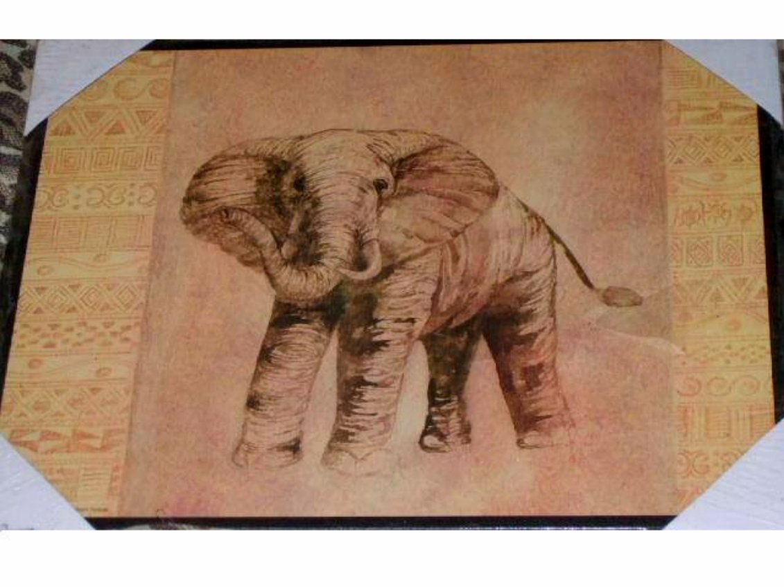 African Wooden Wall Art African Safari Elephant Wood Wall Plaque Art