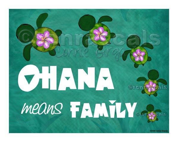 Rich Quotes Wallpaper Honu Ohana Aloha Or Ohana Means Family 5x5 Or 7x5 Art Print