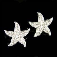 Swarovski Crystal Starfish Post Earrings Beach Wedding ...