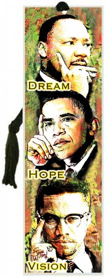 Black History Month~Malcolm, Barack and Martin Bookmark