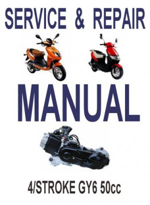 GY6 50cc Scooter Service Repair Manual Rebuild Fix Chinese Kinroad