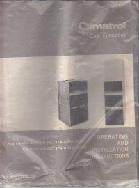 Climatrol Gas Furnace Manual models 174-0-045-11-10 174-0 ...