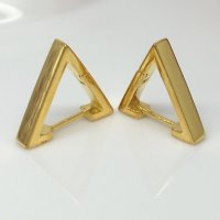 Men's triangle hoop earrings crafted from sterling silver ...
