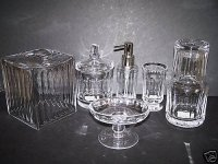 WATERWORKS Faceted Crystal Bath Accessories Set New