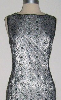 Stnay Silver Beaded Cocktail Dress size 14 petite SOLD!