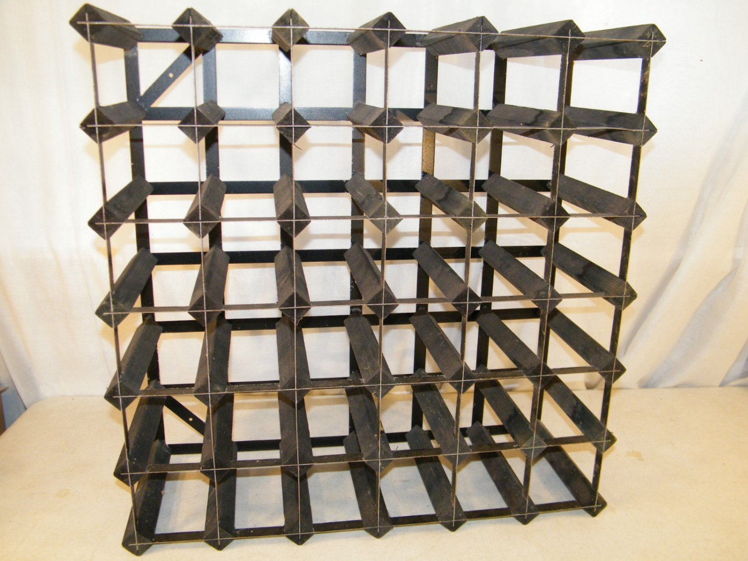 Metal Wine Storage Racks Vintage 36 Bottle Hand Made Wooden Black Metal Wine Storage Rack Kitchen
