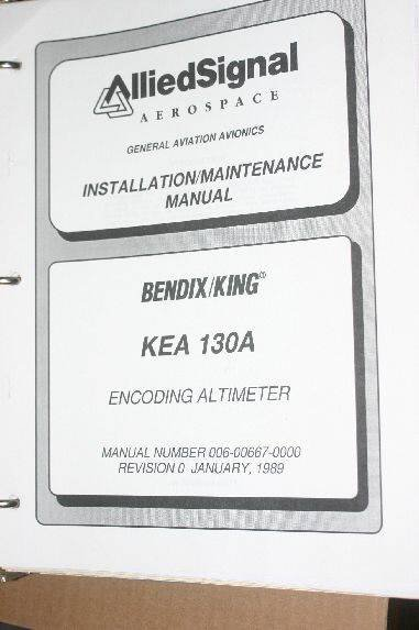 Allied Bendix King KEA130A Altimeter Installation/Maintenance manual