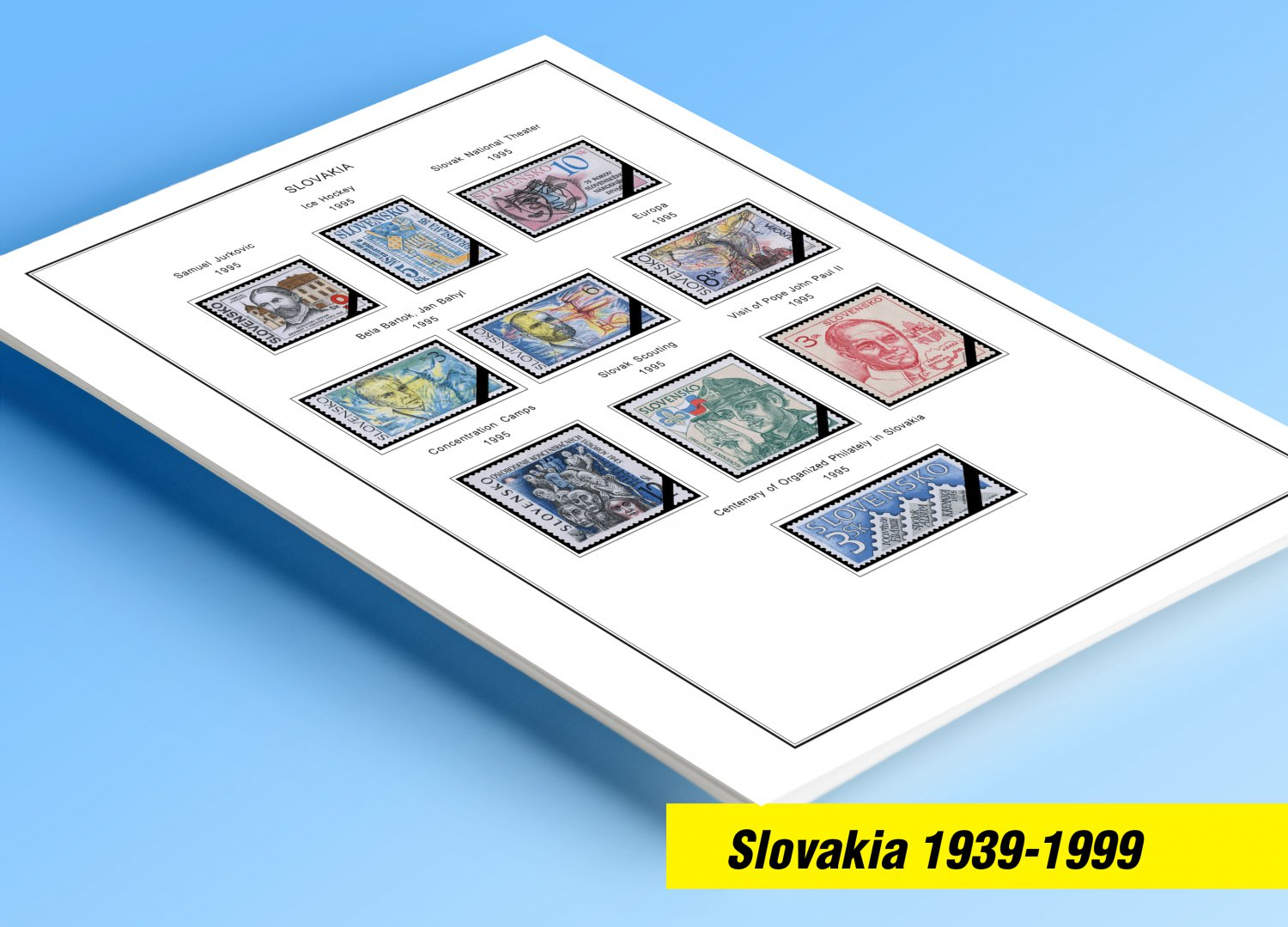 Color Printed Slovakia 1939 1999 Stamp Album Pages 46