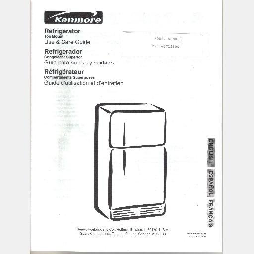 kenmore refrigerator model 253 wiring diagram