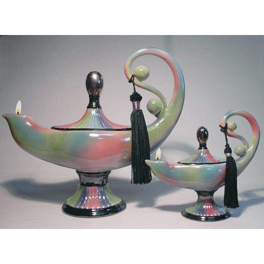 Nuha Genie Lamp Of Knowledge Ceramic Oil Lamp Large 10