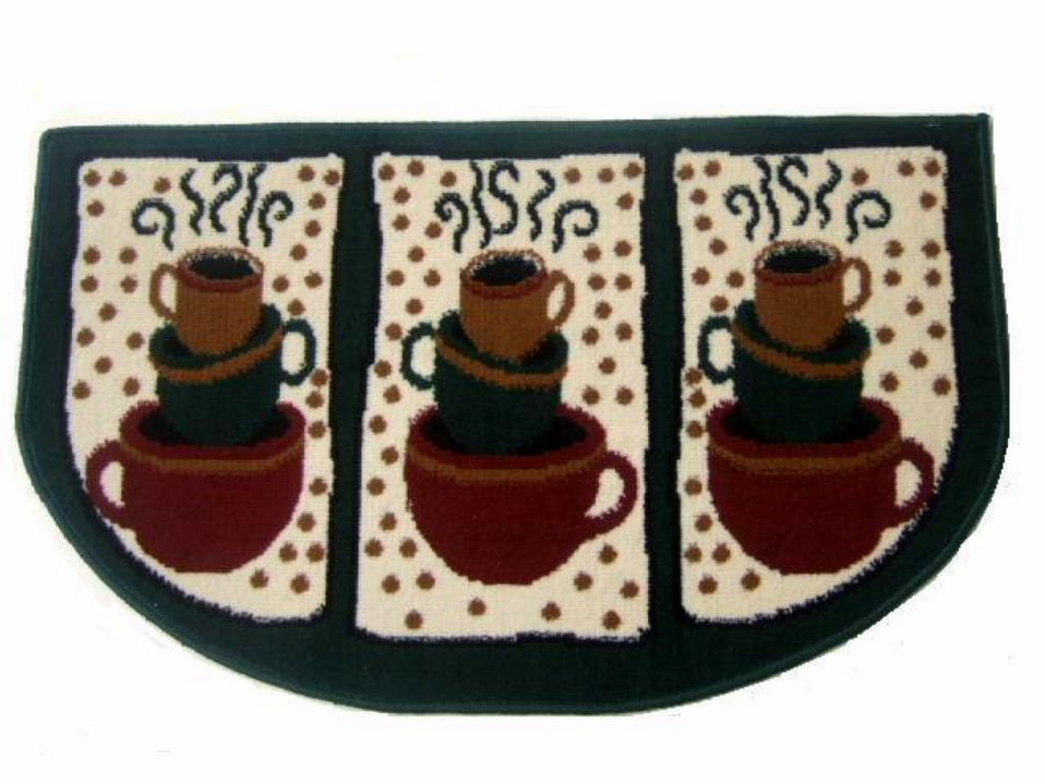 Black And White Polka Dot Wallpaper Border Coffee Themed Kitchen Rug Cups Mat