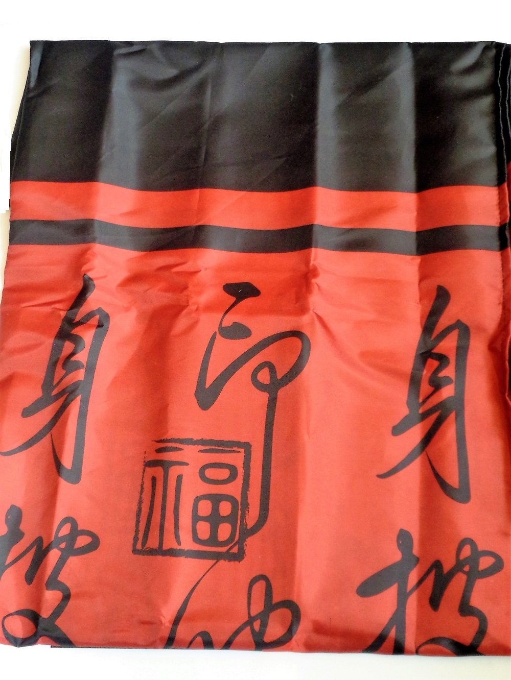 Red And Black Shower Curtain Set Red Black Asian Oriental Fiji Fabric Shower Curtain Set With