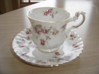 VINTAGE ROYAL CREST BONE CHINA TEA CUP & SAUCER SET - MINI ...
