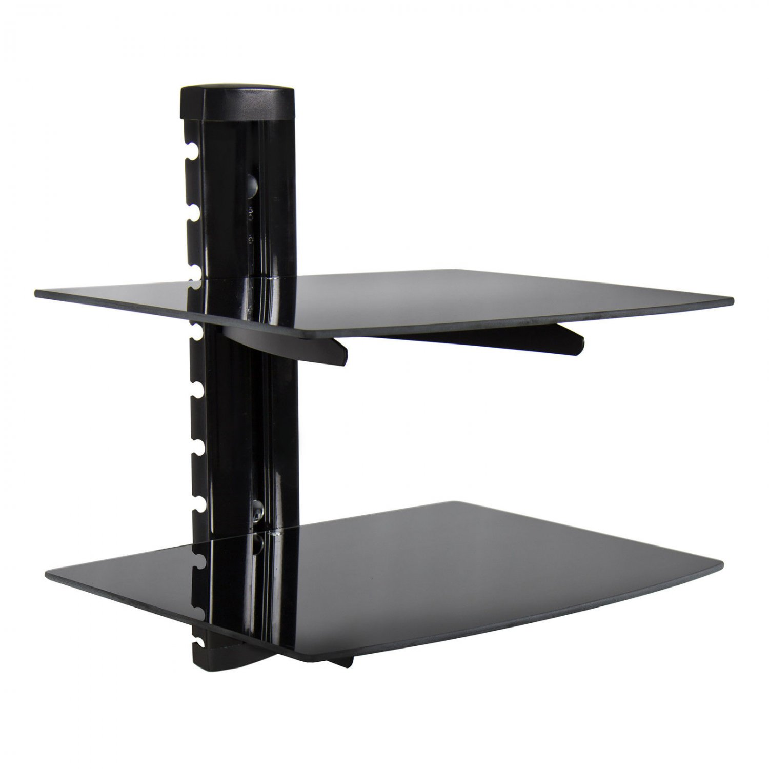 Shelves To Go Under Wall Mounted Tv 2 Tier Dual Glass Shelf Wall Mount Bracket Under Tv