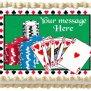 Edible Poker Casino Image Cake Topper 1 4 Sheet 10 5 X 8