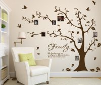 Large Family Photo Tree & Birds Art Vinyl Wall Sticker ...