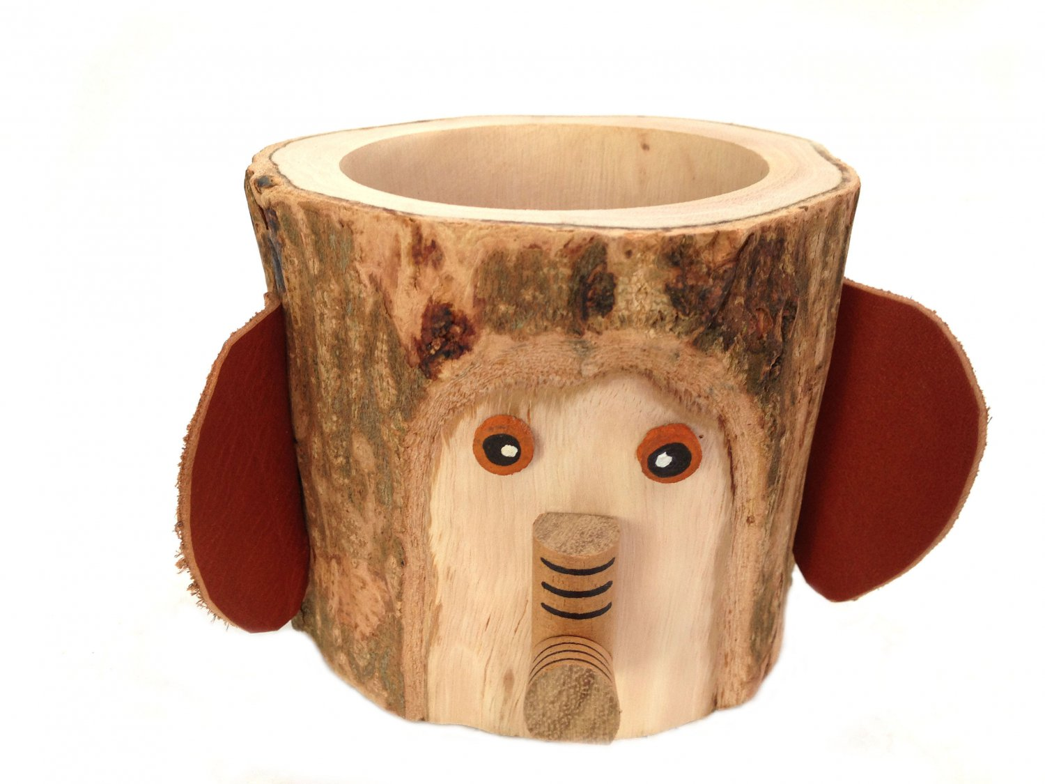 Pen Cup Holder Rustic Pencil Holder Elephant Bark Wood Pencil Cup Tree