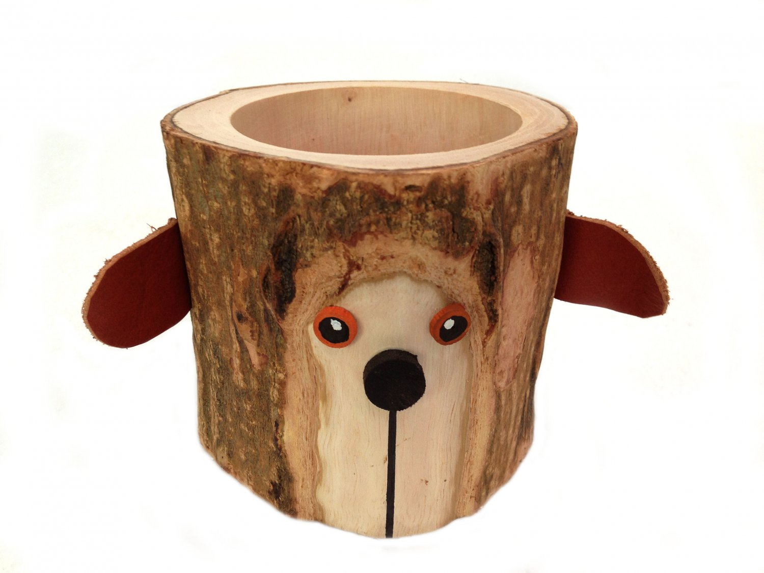 Pen Cup Holder Rustic Pencil Holder Bear Bark Wood Pencil Cup Tree Bark