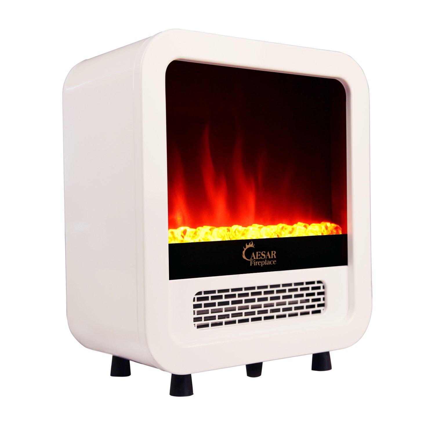 Bedroom Fireplace Heater Caesar Hardware Portable Mini Indoor Compact Freestanding