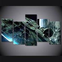 Star Wars millennium falcon star wars 5pc Wall Decor ...